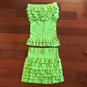 Dresses & Skirts - Two-piece skirt and tube top set